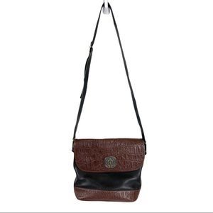 American Angel Black Brown Leather Purse Handbag